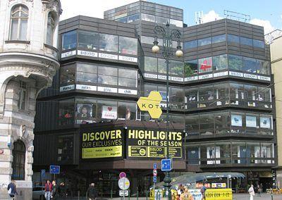 Kotva Department Store Shopping Prague