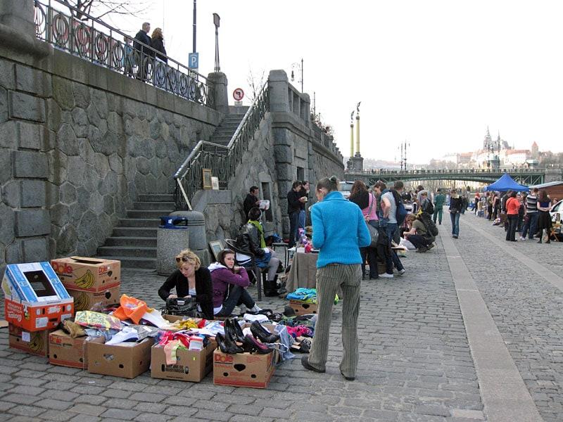 Flea Markets in Central Prague