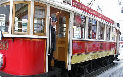Historical Tram Line 41 with Real Tram Conductor