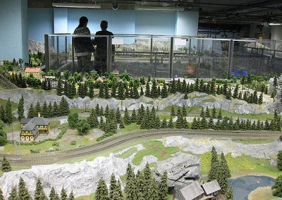 model trains prague