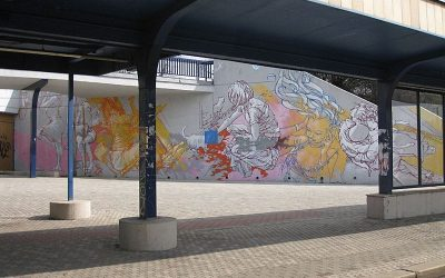 Vltavska Metro Station and Street Art