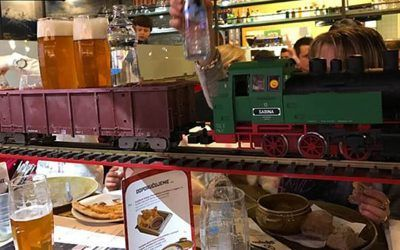 Vytopna – Trains Bring Drinks to your Table